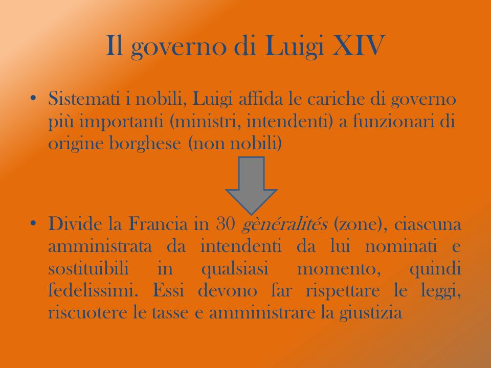 Il governo di Luigi XIV