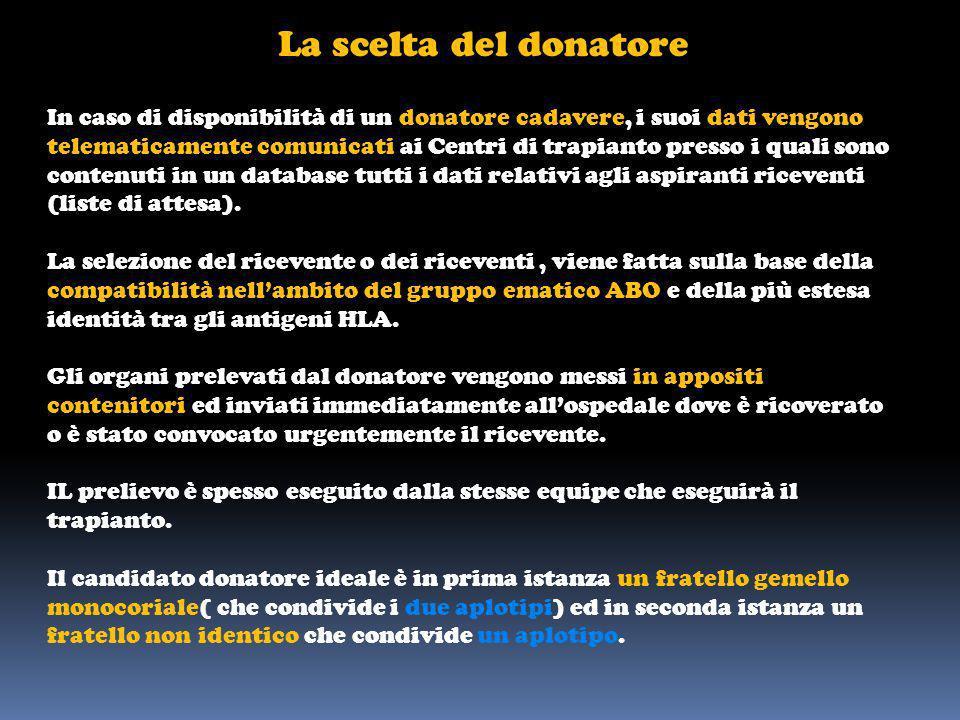 La scelta del donatore