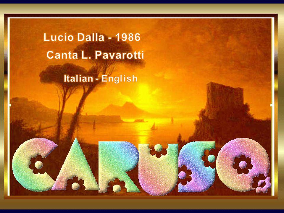 Lucio Dalla - 1986 Canta L. Pavarotti