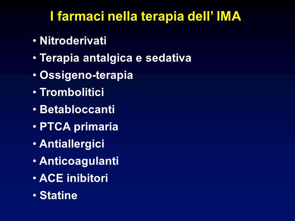 I farmaci nella terapia dell' IMA