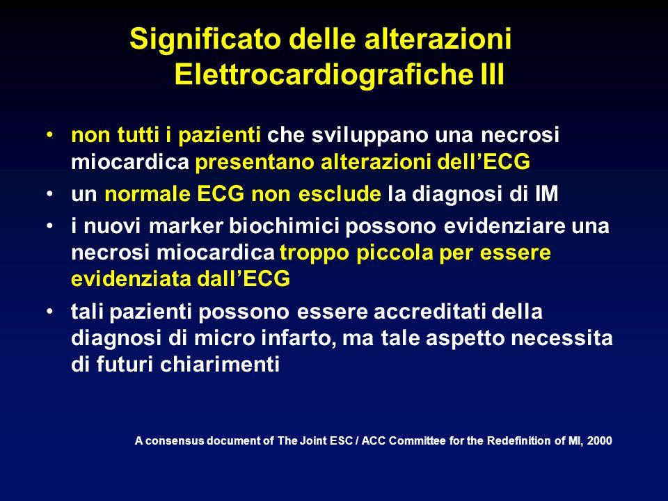 Significato delle alterazioni Elettrocardiografiche III