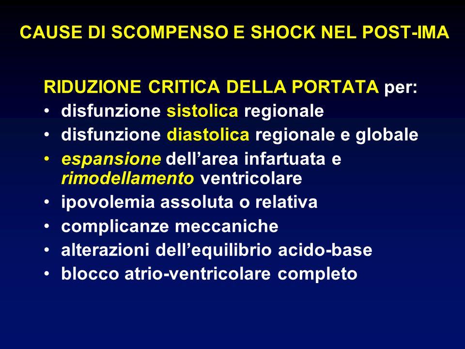 CAUSE DI SCOMPENSO E SHOCK NEL POST-IMA