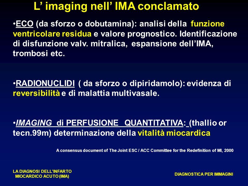 L' imaging nell' IMA conclamato