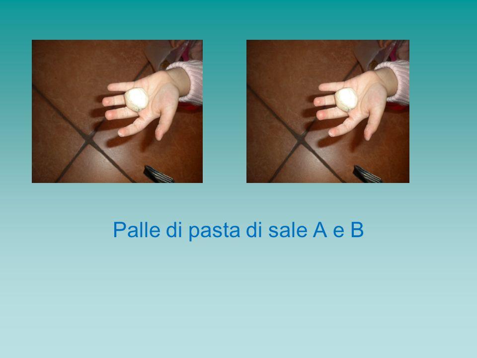 Palle di pasta di sale A e B