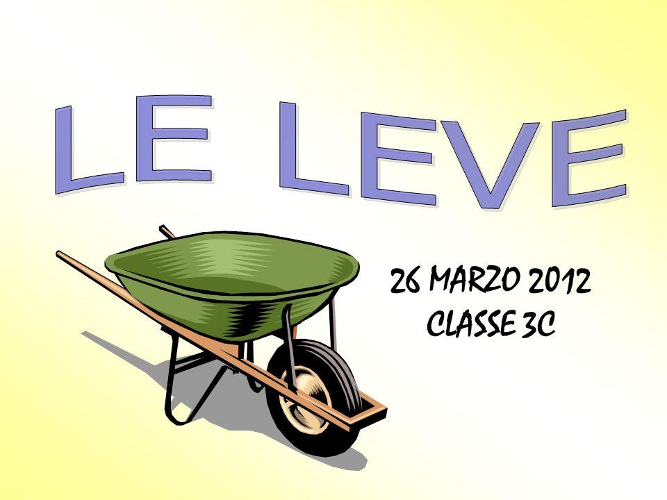 LE LEVE 26 MARZO 2012 CLASSE 3C
