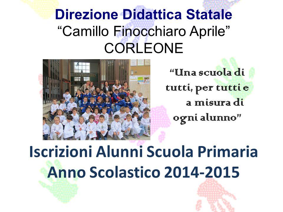 Direzione Didattica Statale Camillo Finocchiaro Aprile CORLEONE