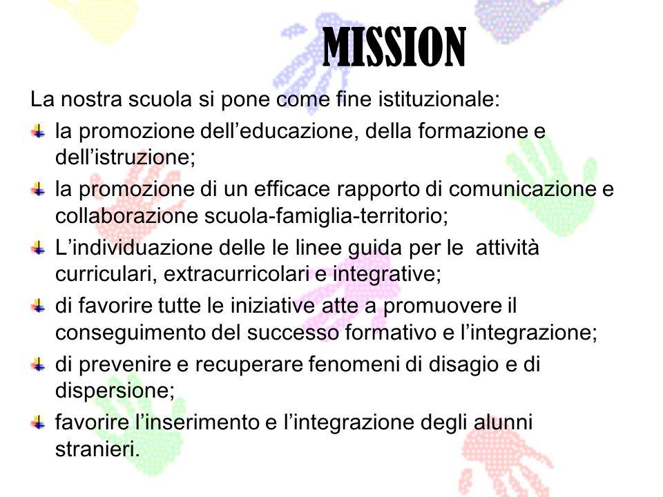 MISSION La nostra scuola si pone come fine istituzionale: