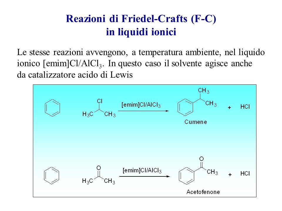Reazioni di Friedel-Crafts (F-C) in liquidi ionici