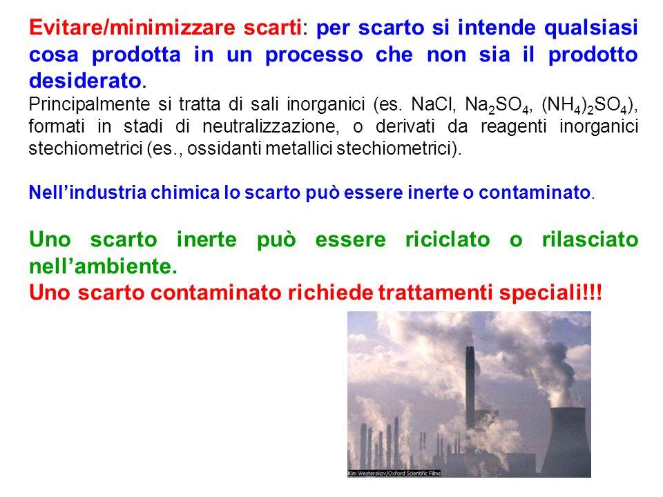 Uno scarto inerte può essere riciclato o rilasciato nell'ambiente.