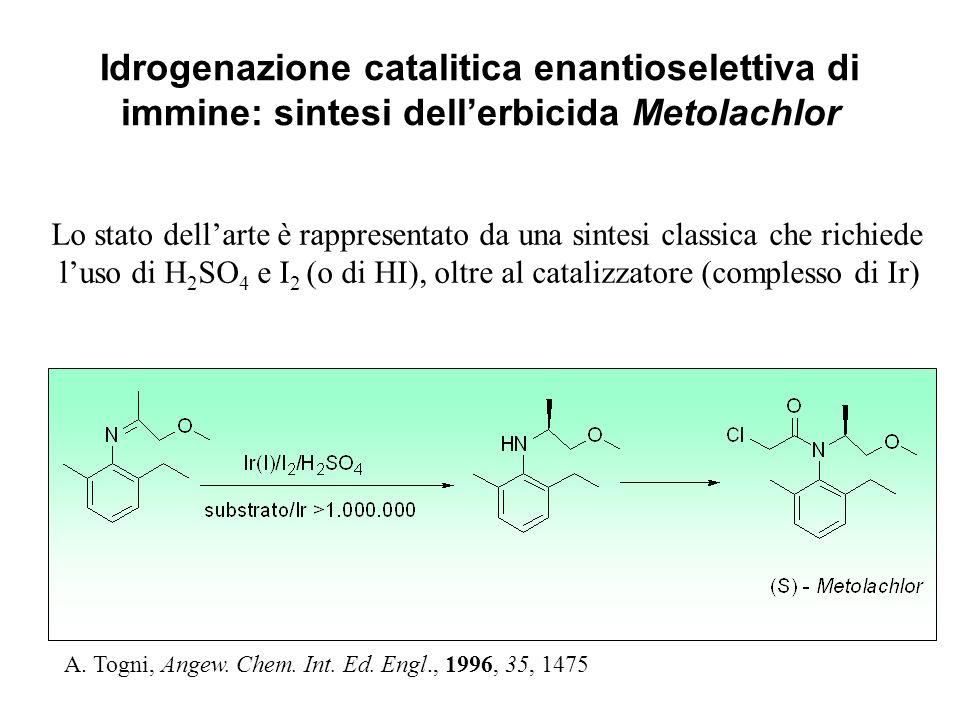 Idrogenazione catalitica enantioselettiva di immine: sintesi dell'erbicida Metolachlor