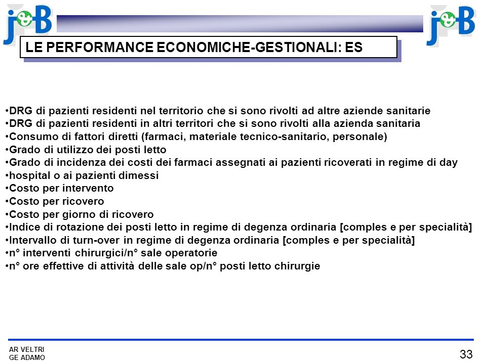 LE PERFORMANCE ECONOMICHE-GESTIONALI: ES