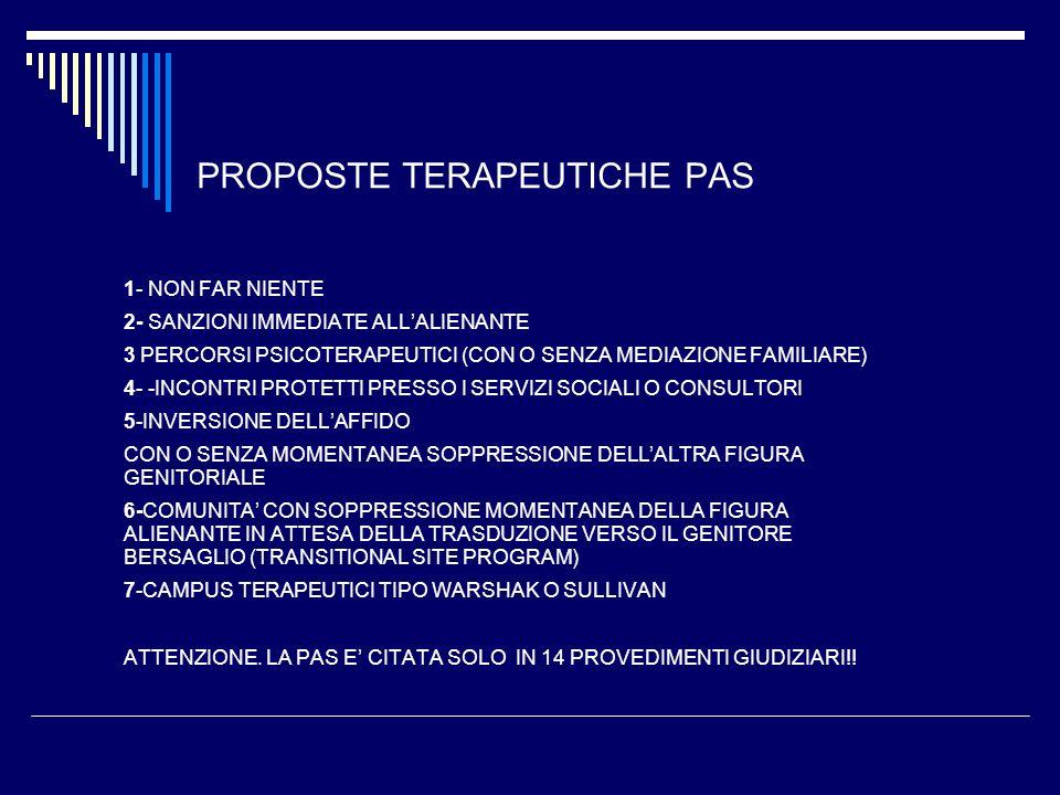 PROPOSTE TERAPEUTICHE PAS