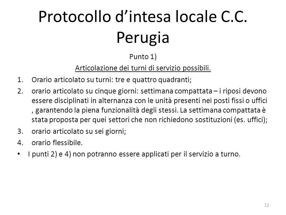 Protocollo d'intesa locale C.C. Perugia