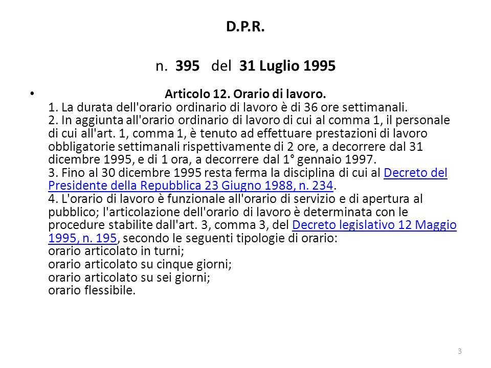 D.P.R. n. 395 del 31 Luglio 1995