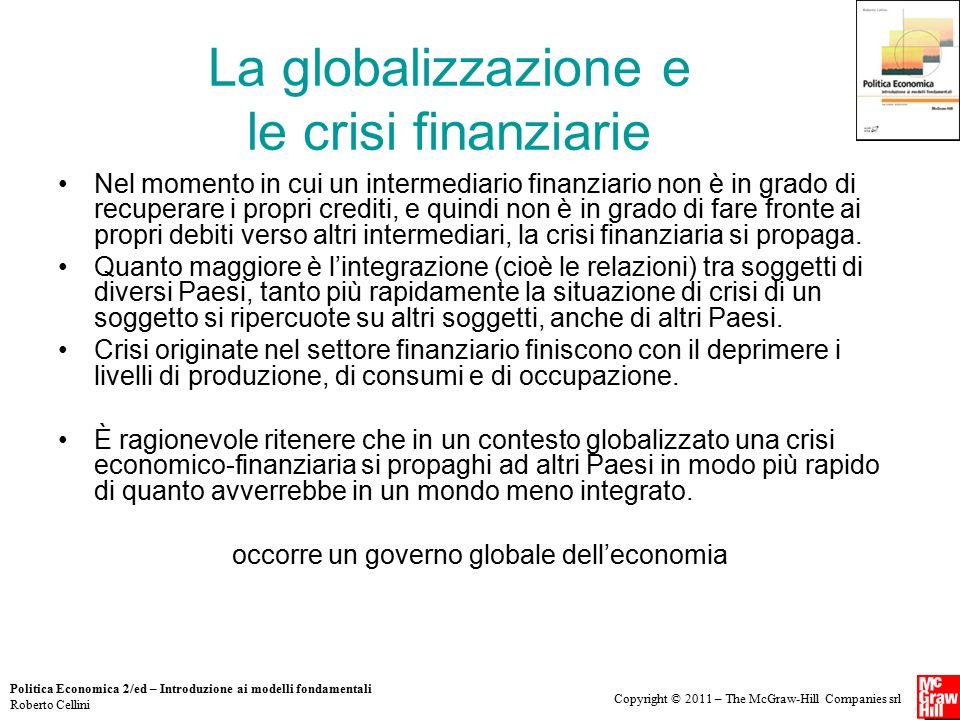 La globalizzazione e le crisi finanziarie