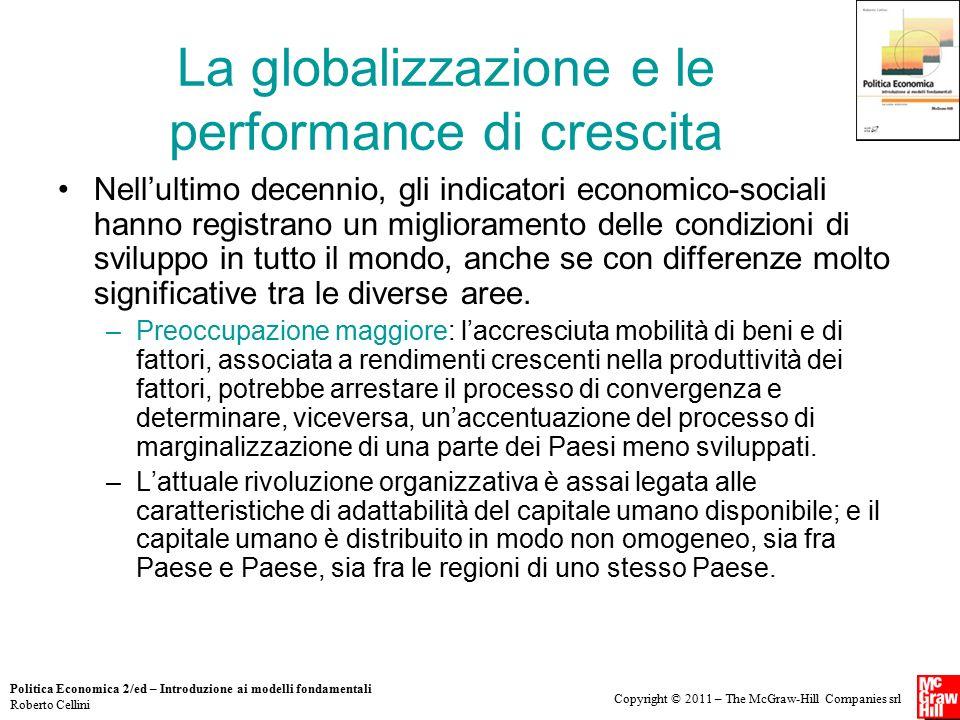 La globalizzazione e le performance di crescita