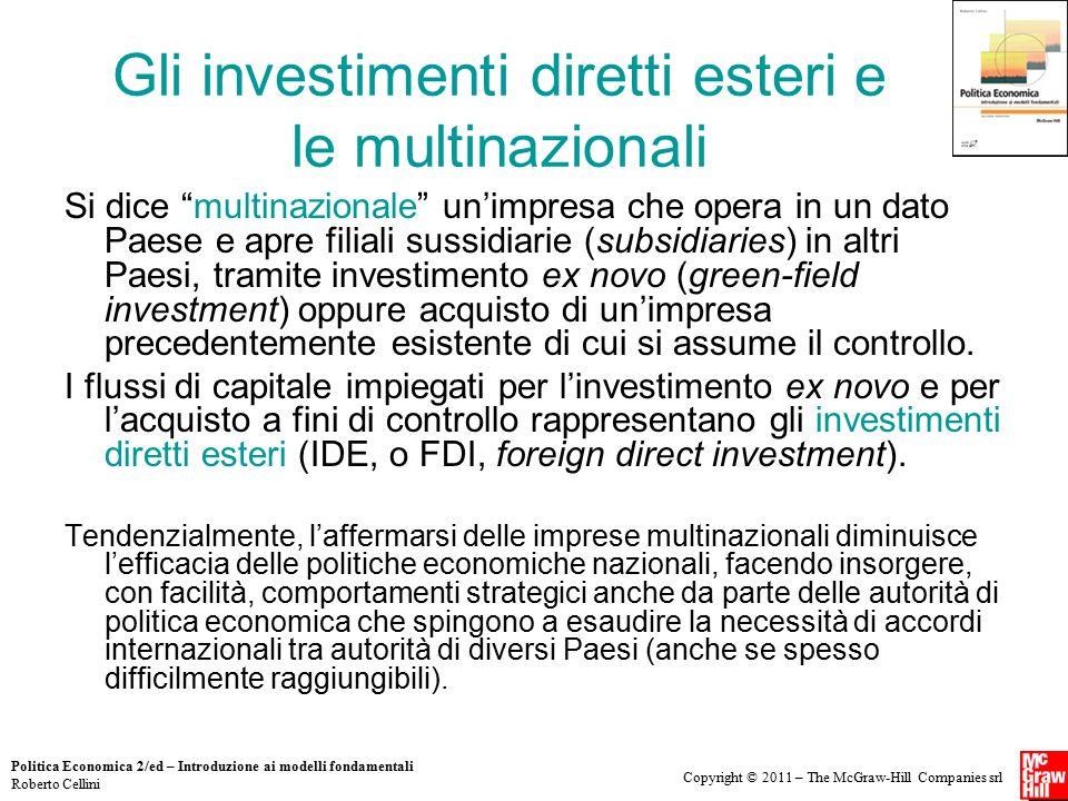 Gli investimenti diretti esteri e le multinazionali