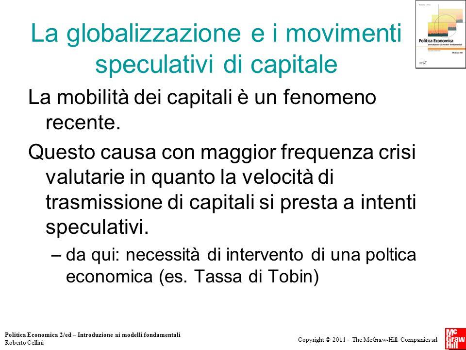 La globalizzazione e i movimenti speculativi di capitale
