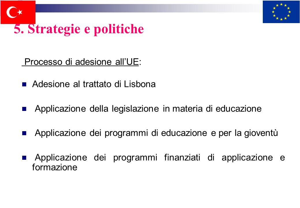 5. Strategie e politiche Processo di adesione all'UE:
