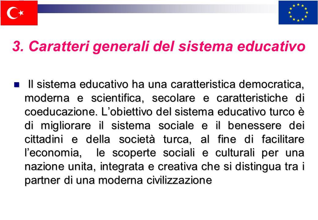 3. Caratteri generali del sistema educativo