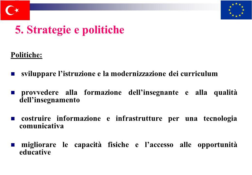 5. Strategie e politiche Politiche: