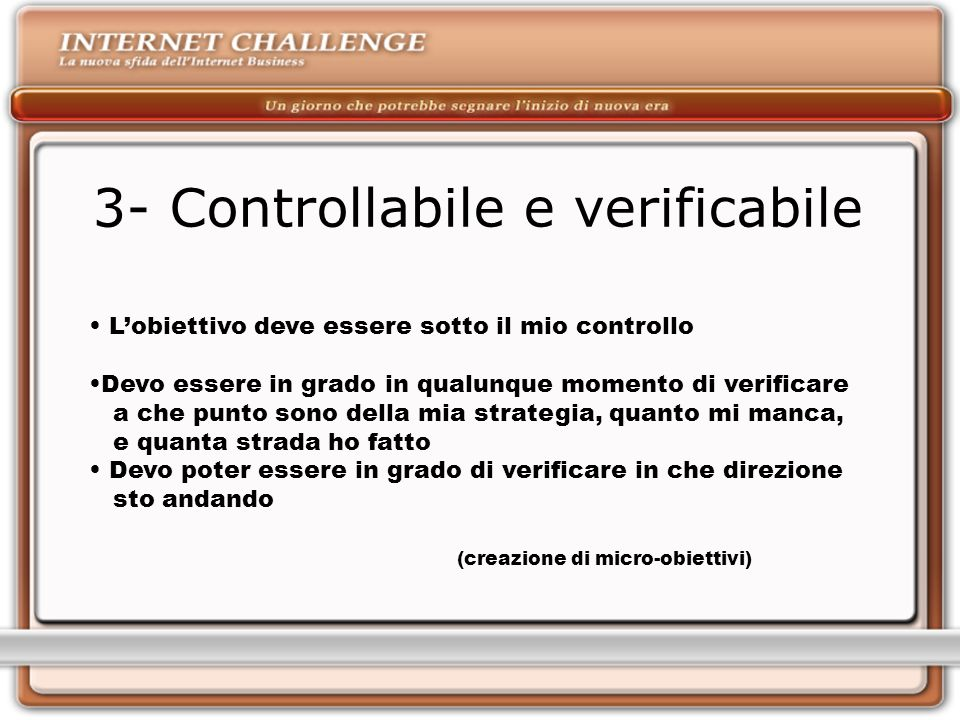 3- Controllabile e verificabile