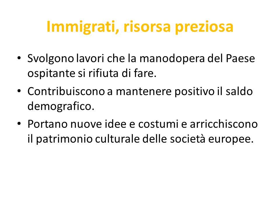Immigrati, risorsa preziosa