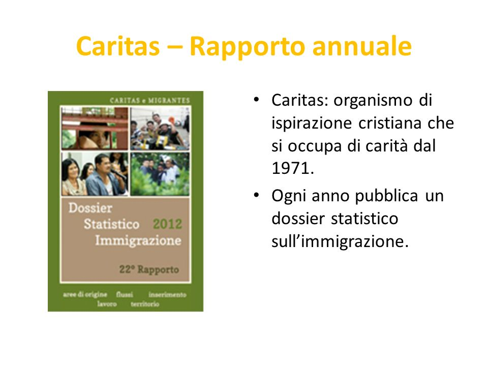 Caritas – Rapporto annuale
