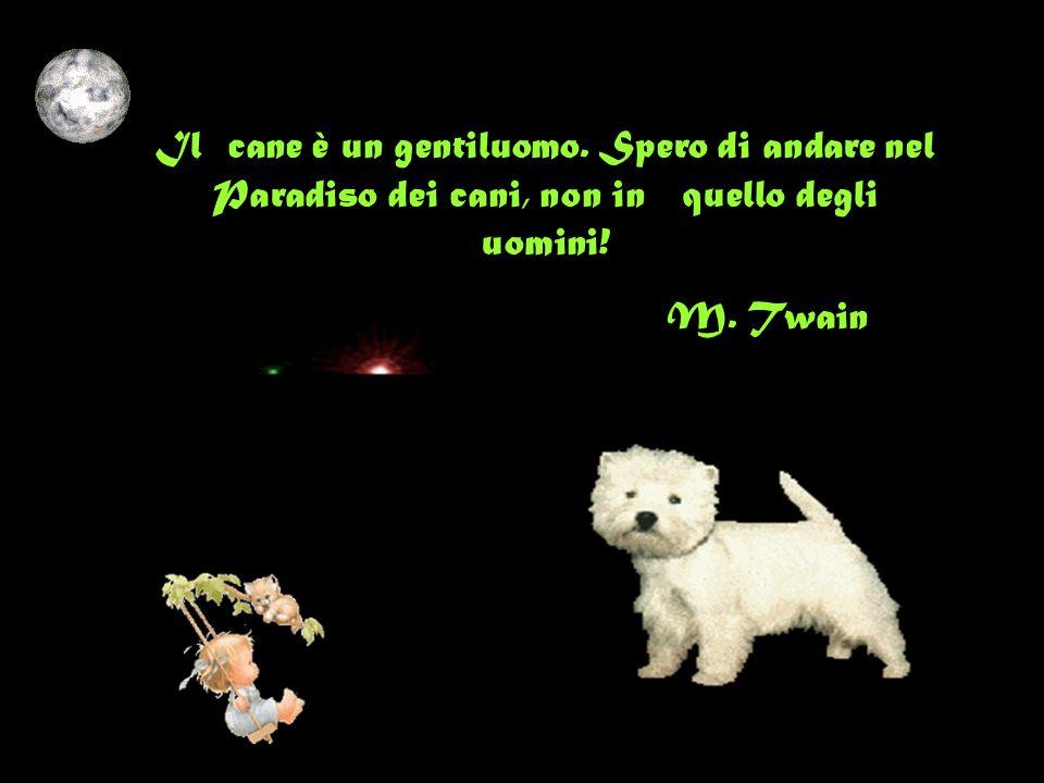 Il cane è un gentiluomo. Spero di andare nel Paradiso dei cani, non in quello degli uomini!