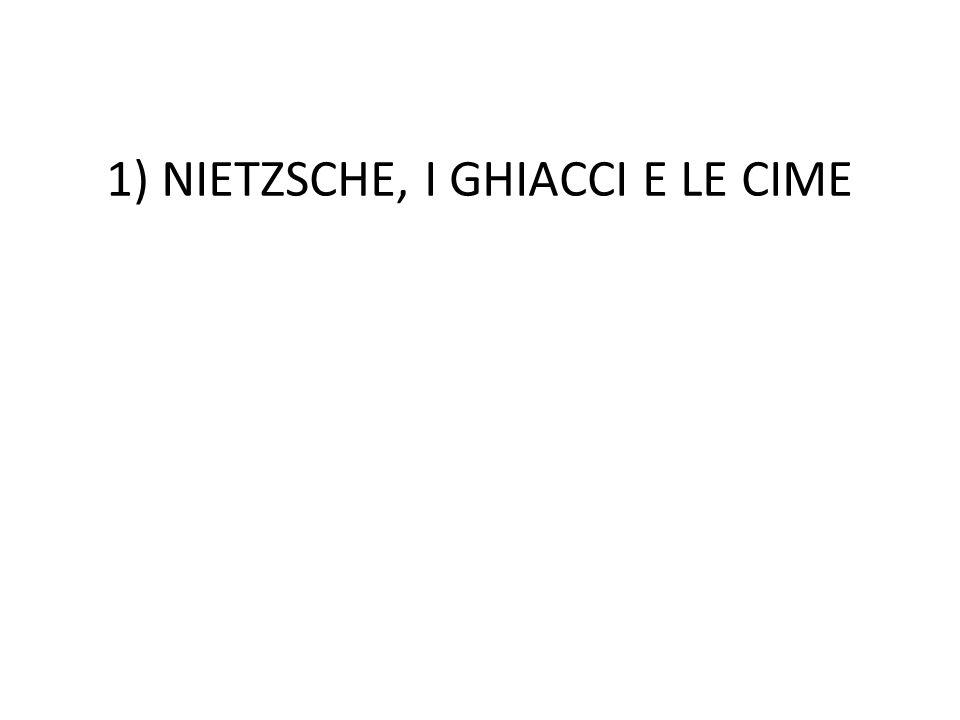 1) NIETZSCHE, I GHIACCI E LE CIME