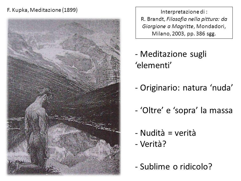 Meditazione sugli 'elementi'