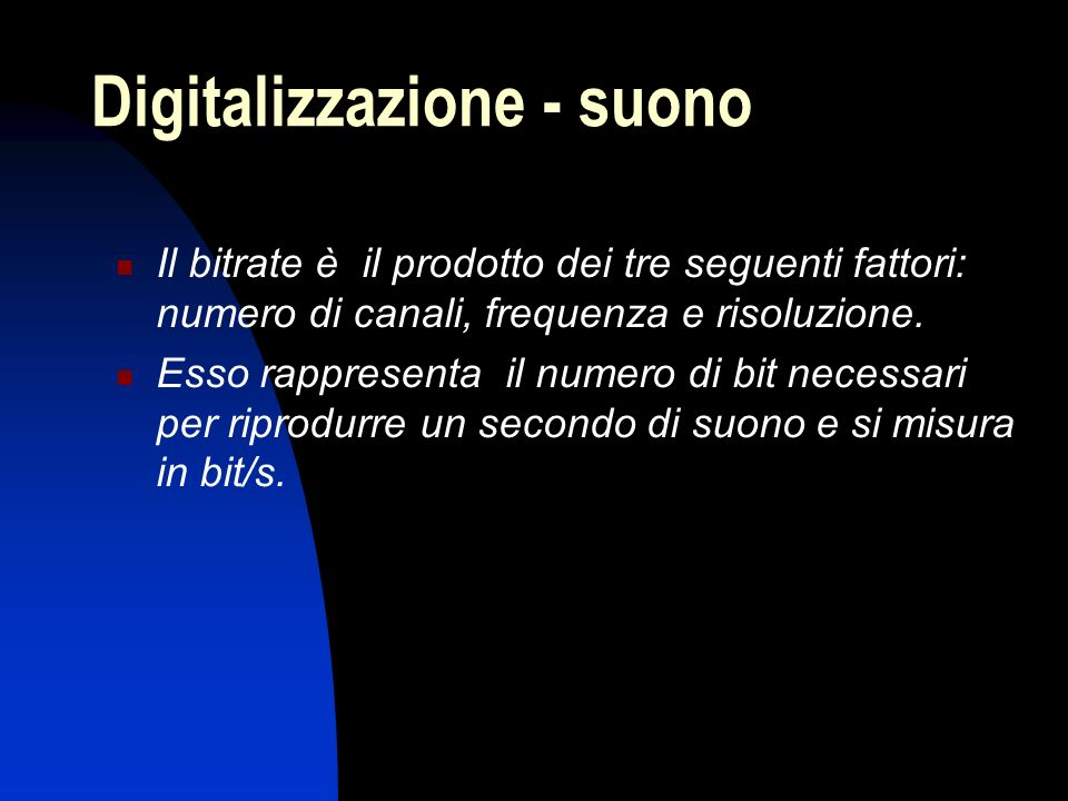 Digitalizzazione - suono