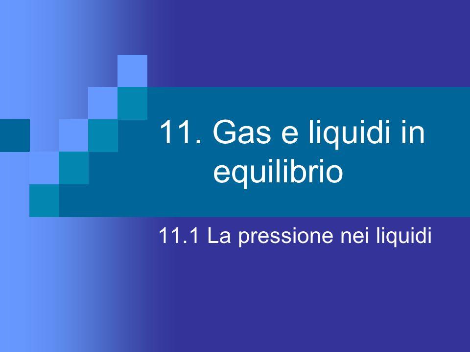 11. Gas e liquidi in equilibrio