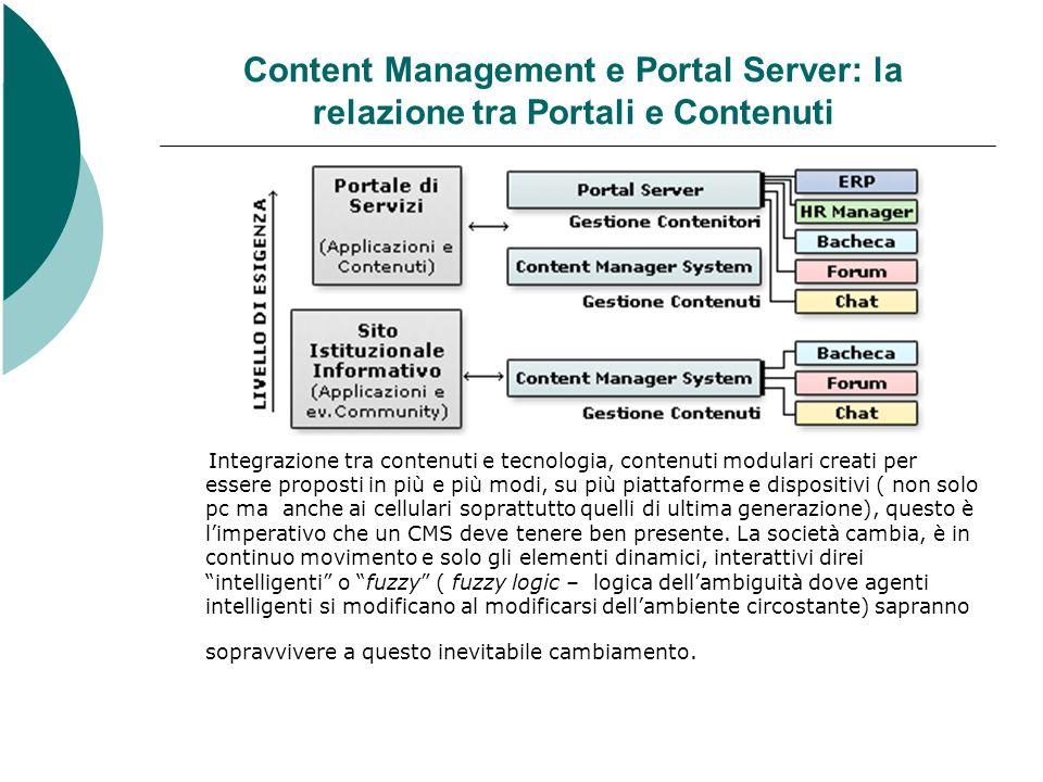 Content Management e Portal Server: la relazione tra Portali e Contenuti