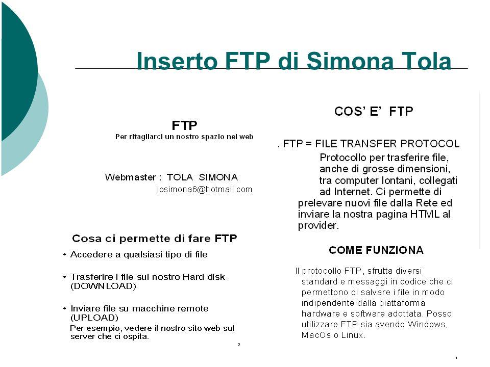 Inserto FTP di Simona Tola