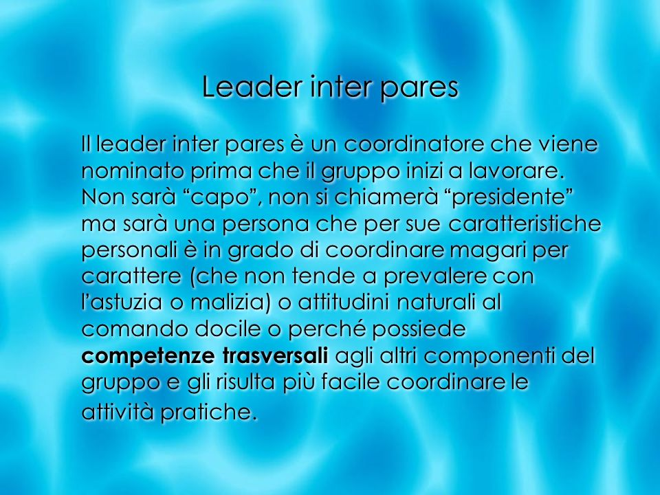 Leader inter pares
