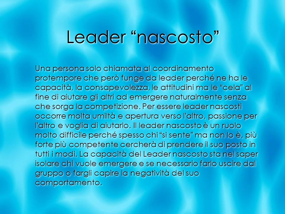 Leader nascosto
