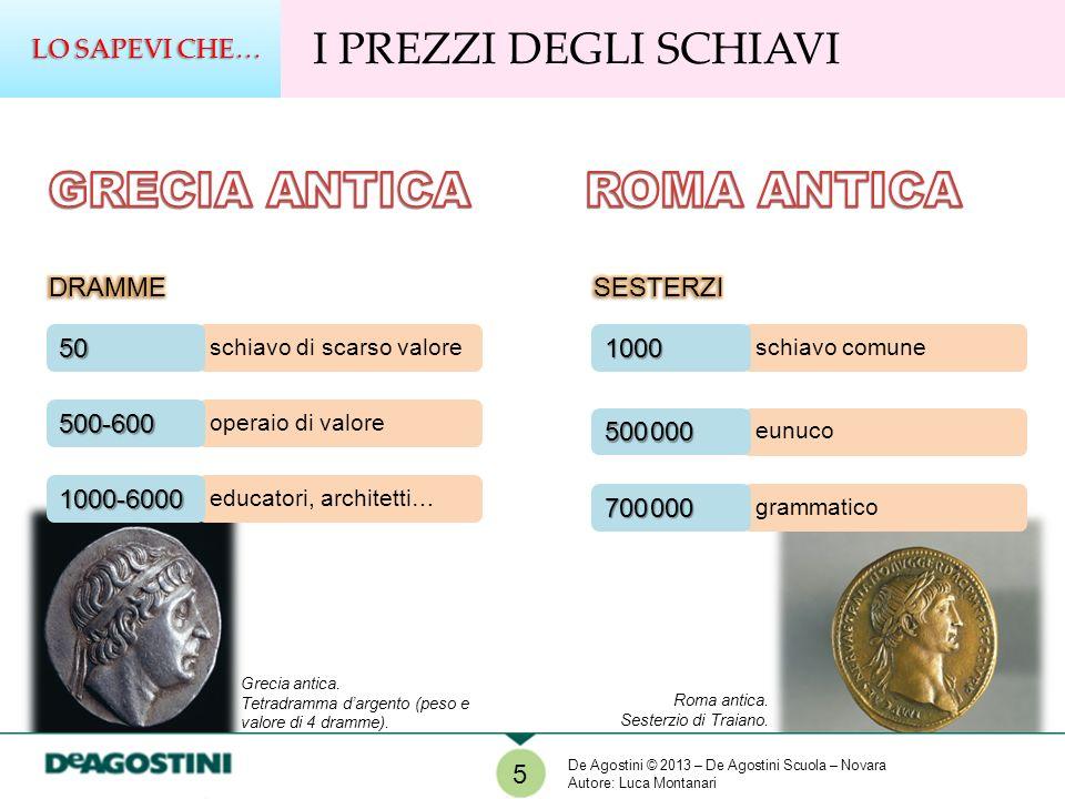 GRECIA ANTICA ROMA ANTICA I PREZZI DEGLI SCHIAVI LO SAPEVI CHE… DRAMME