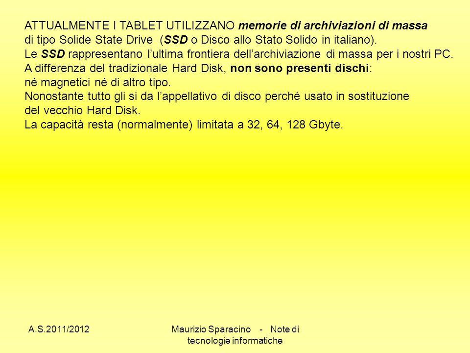 Maurizio Sparacino - Note di tecnologie informatiche