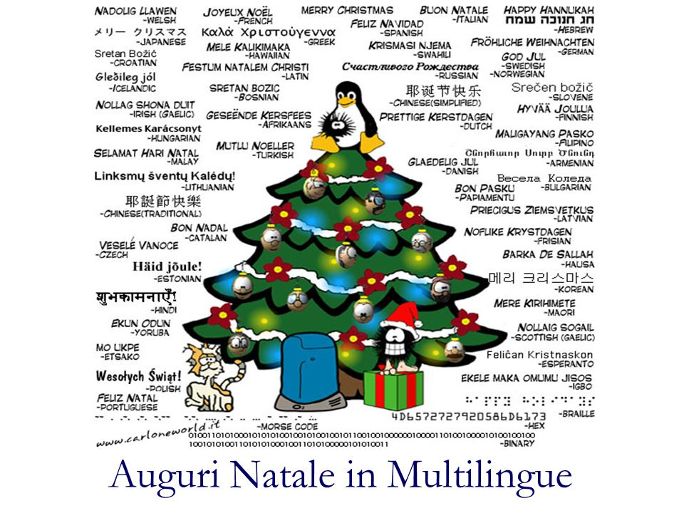 Auguri Natale in Multilingue