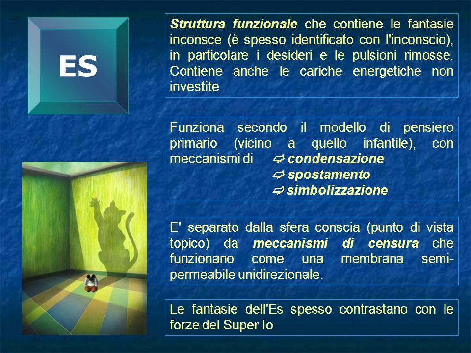 Struttura funzionale che contiene le fantasie inconsce (è spesso identificato con l inconscio), in particolare i desideri e le pulsioni rimosse. Contiene anche le cariche energetiche non investite