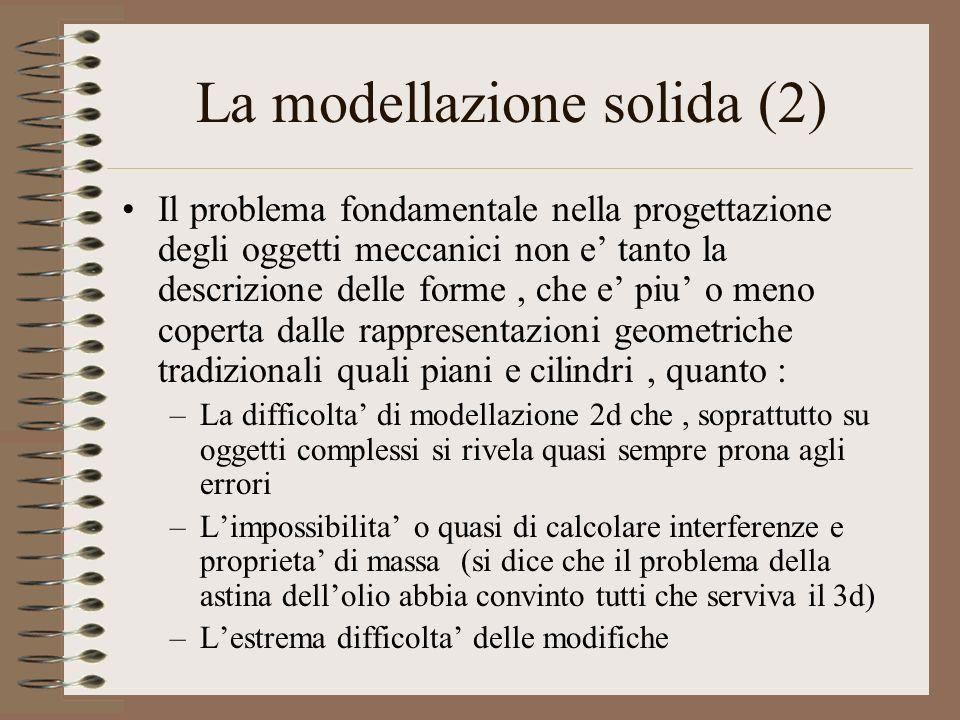 La modellazione solida (2)