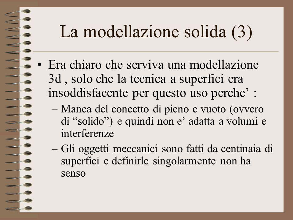 La modellazione solida (3)