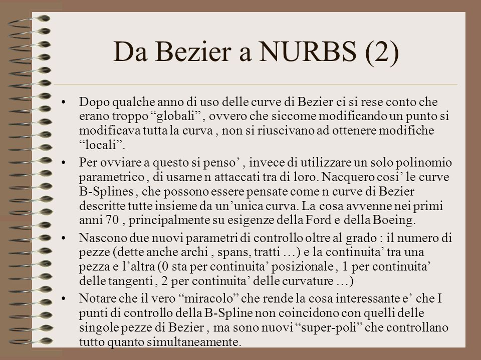 Da Bezier a NURBS (2)