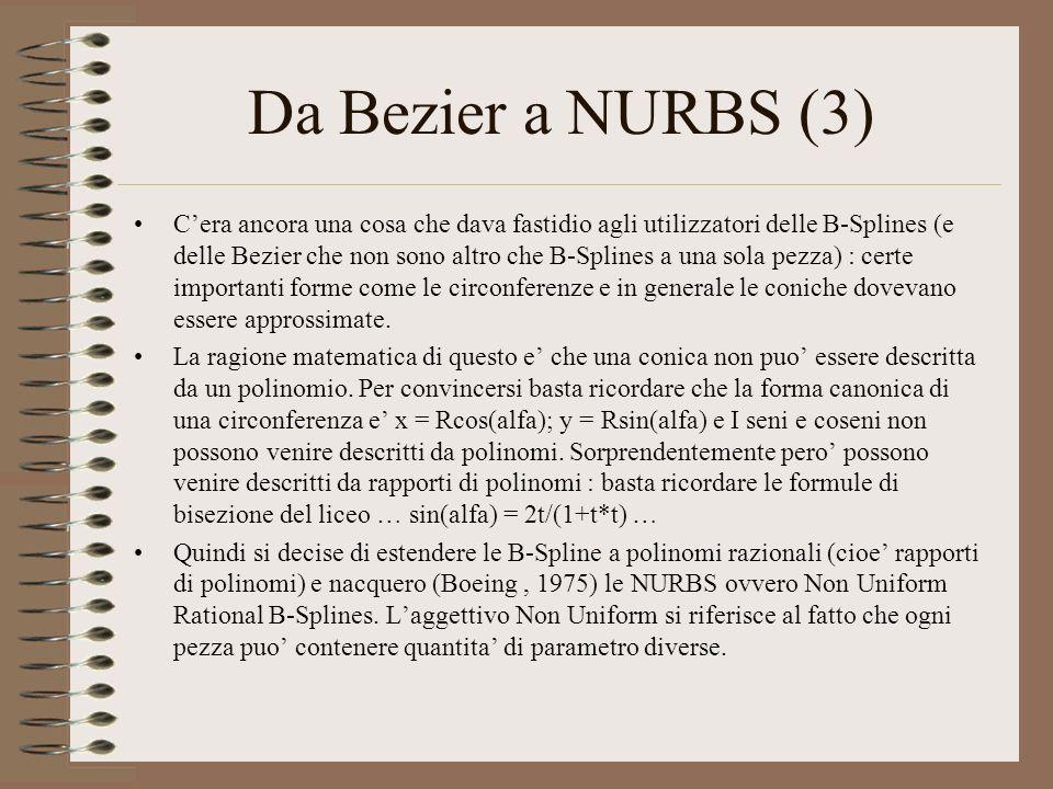 Da Bezier a NURBS (3)