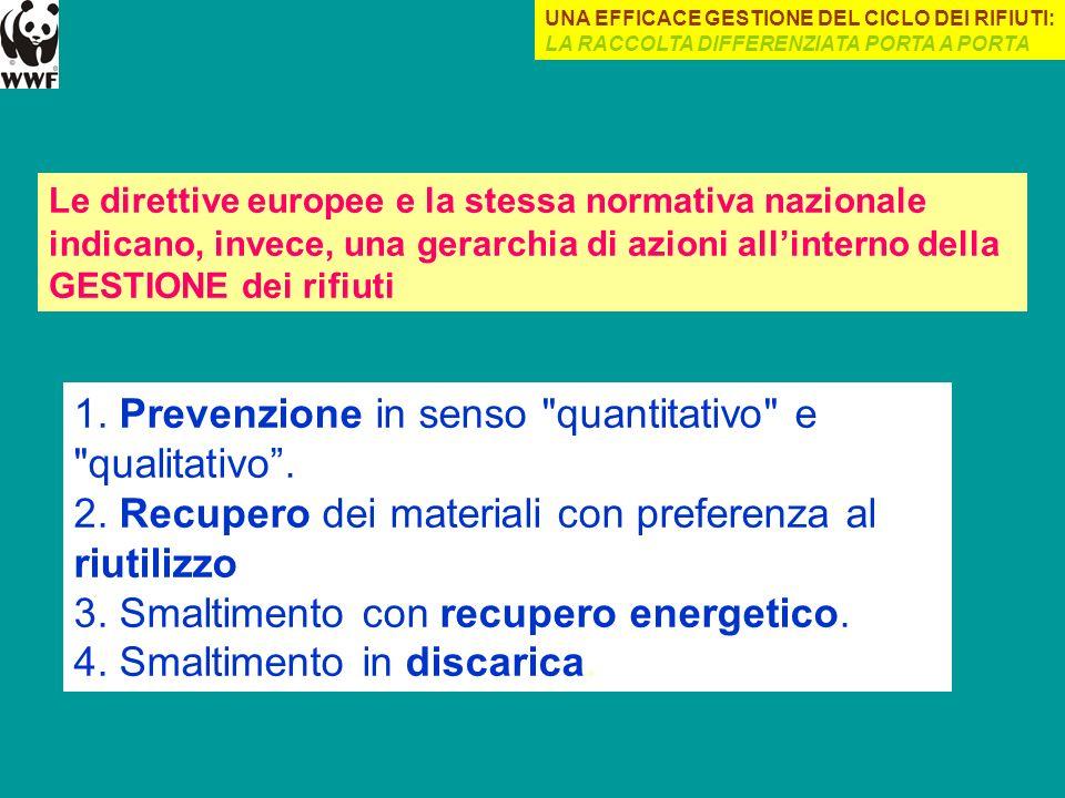 1. Prevenzione in senso quantitativo e qualitativo .