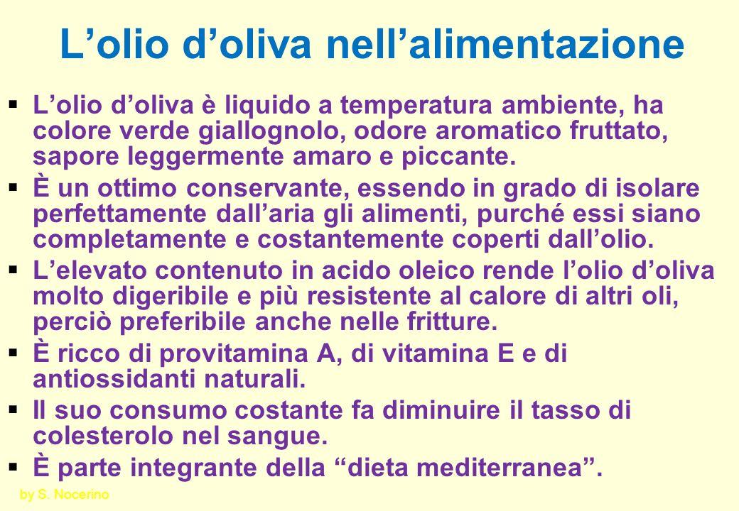 L'olio d'oliva nell'alimentazione