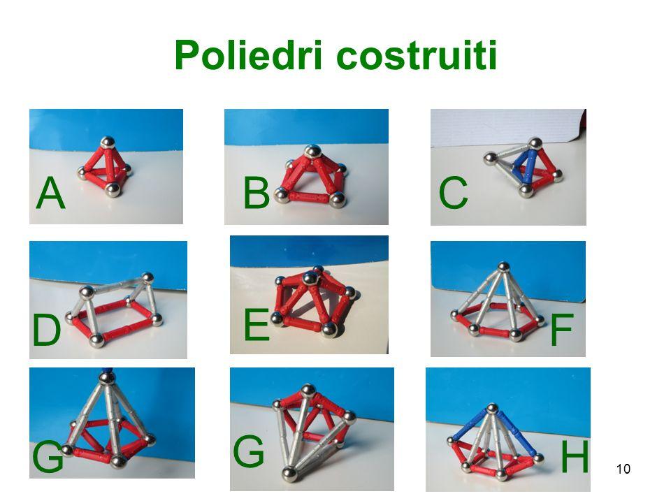 Poliedri costruiti A B C E D F G G H