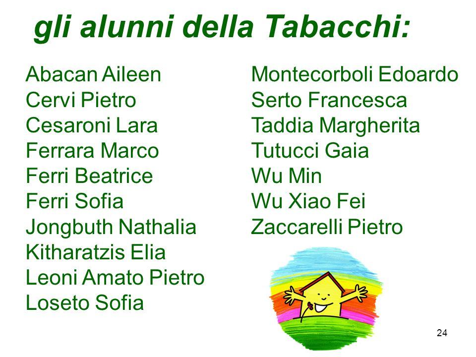gli alunni della Tabacchi: