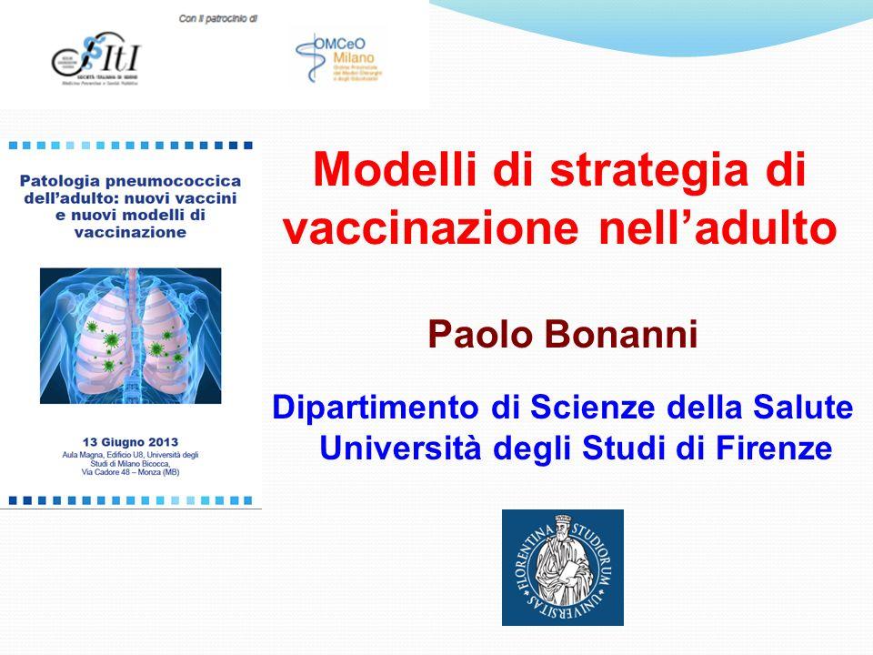 Modelli di strategia di vaccinazione nell'adulto